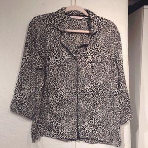 Victoria's Secret Leopard Button Front Sleep Shirt